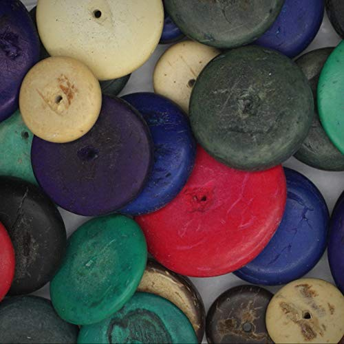 (Coco Discs Coconut Shell Flat Washer Jewelry Making Beads Hand Cut Mixed Colors & Sizes Appx 25 - DIY for Handmade Bracelet Necklace \ Craft)