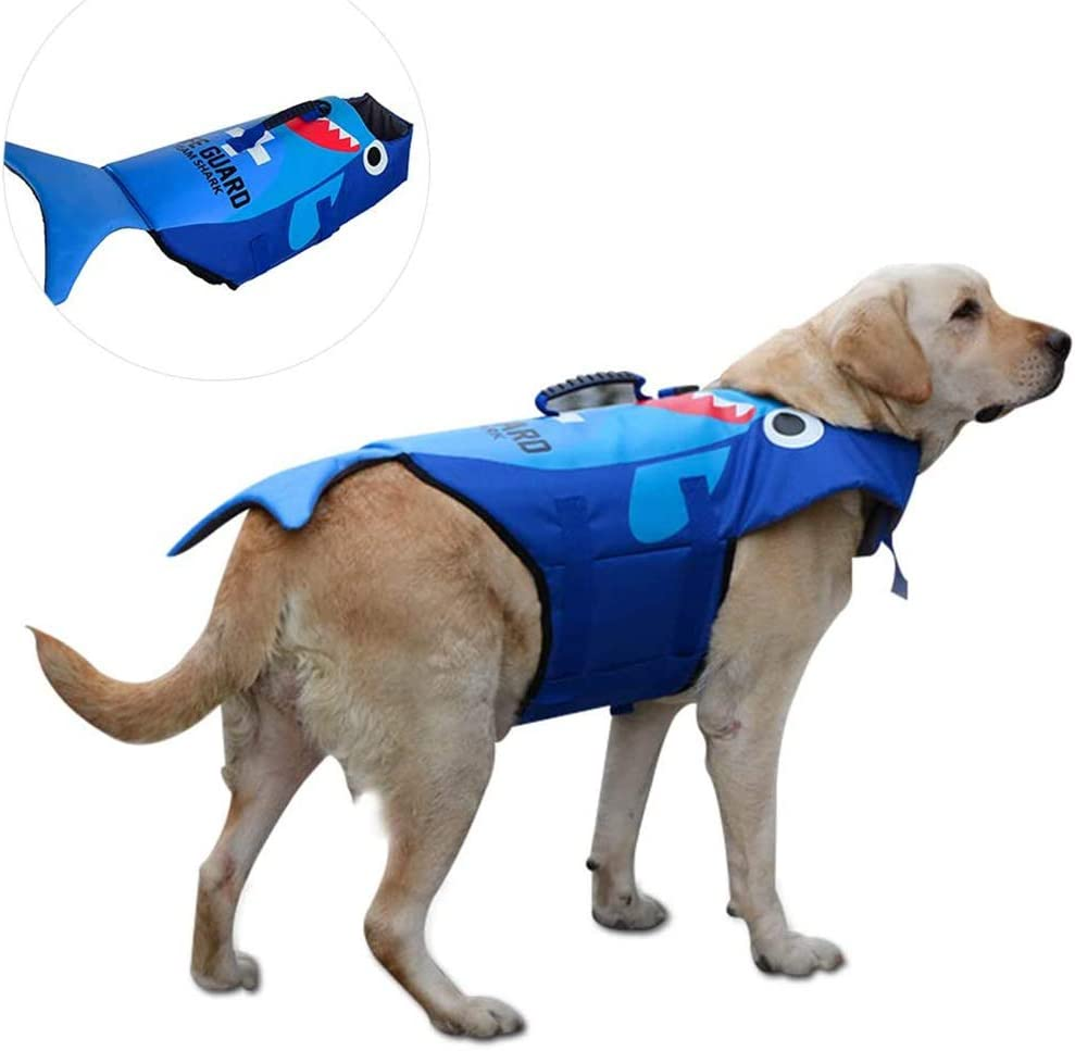 Hundeschwimmweste Haustier-Float Coat Hundeweste f/ür Schwimmen Segeln Surfen WWXXCC Schwimmweste f/ür Hunde Jagd,M Cosplay Hundeschwimmweste