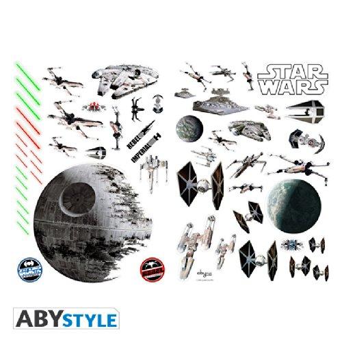 ABYstyle ABYDCO058 - Star Wars - Loisir Créatif - Planche de Stickers Muraux Bataille Spéciale (A Plat)
