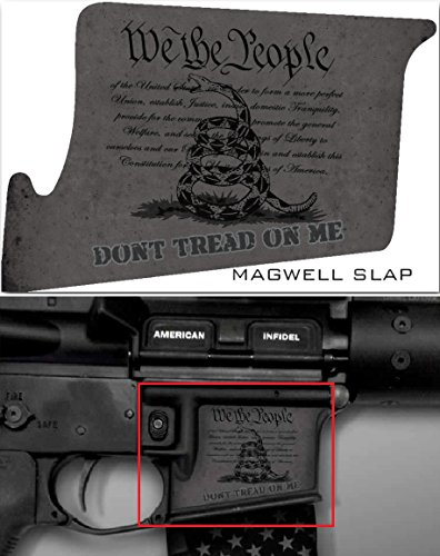 Ultimate Arms Gear Mag Wraps Magwell Slaps Stealth Black DTOM Don't Tread On Me AR15/M4/M16 .223 5.56 Waterproof Durable Lower Decal Skin Kit - USA MADE Ar 15 Magazine