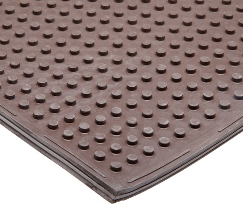 NoTrax T21 Standard Rubber Traction Safety/Anti-Fatigue Mat, for Dry Areas, 3' Width x 4' Length x 3/8