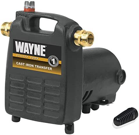 WAYNE PC4 1/2 HP Cast Iron Multi-Purpose Pump With Suction Strainer