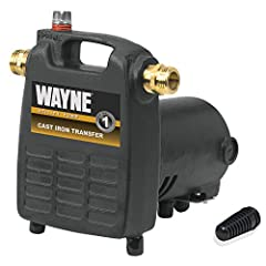 """1/2 HP, Cast Iron, Portable Utility Pump, Pumps Up To 1450 GPH at 0', Portable Cast Iron Transfer Utility Pump, High Performance 1/2 HP, Motor Boosts Line Pressure Up To 40 PSI, 3/4"""" Brass Hose Adapters Connect To Standard Garden Hose, Portab..."""