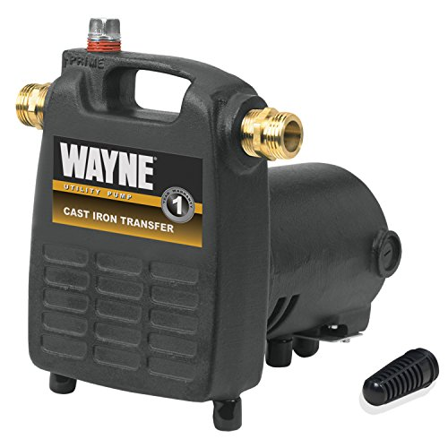 Portable Utility Pump - WAYNE PC4 1/2 HP Cast Iron Multi-Purpose Pump With Suction Strainer
