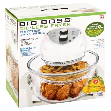 Big Boss 6-Quart Oil-Less Fryer, White Color