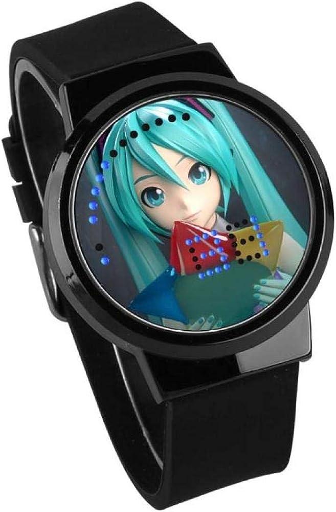 Orologi da polso Hatsune Moda Orologio Studenti E Studentesse Led Touch Screen Orologio Impermeabile Regalo Di Compleanno Anime G