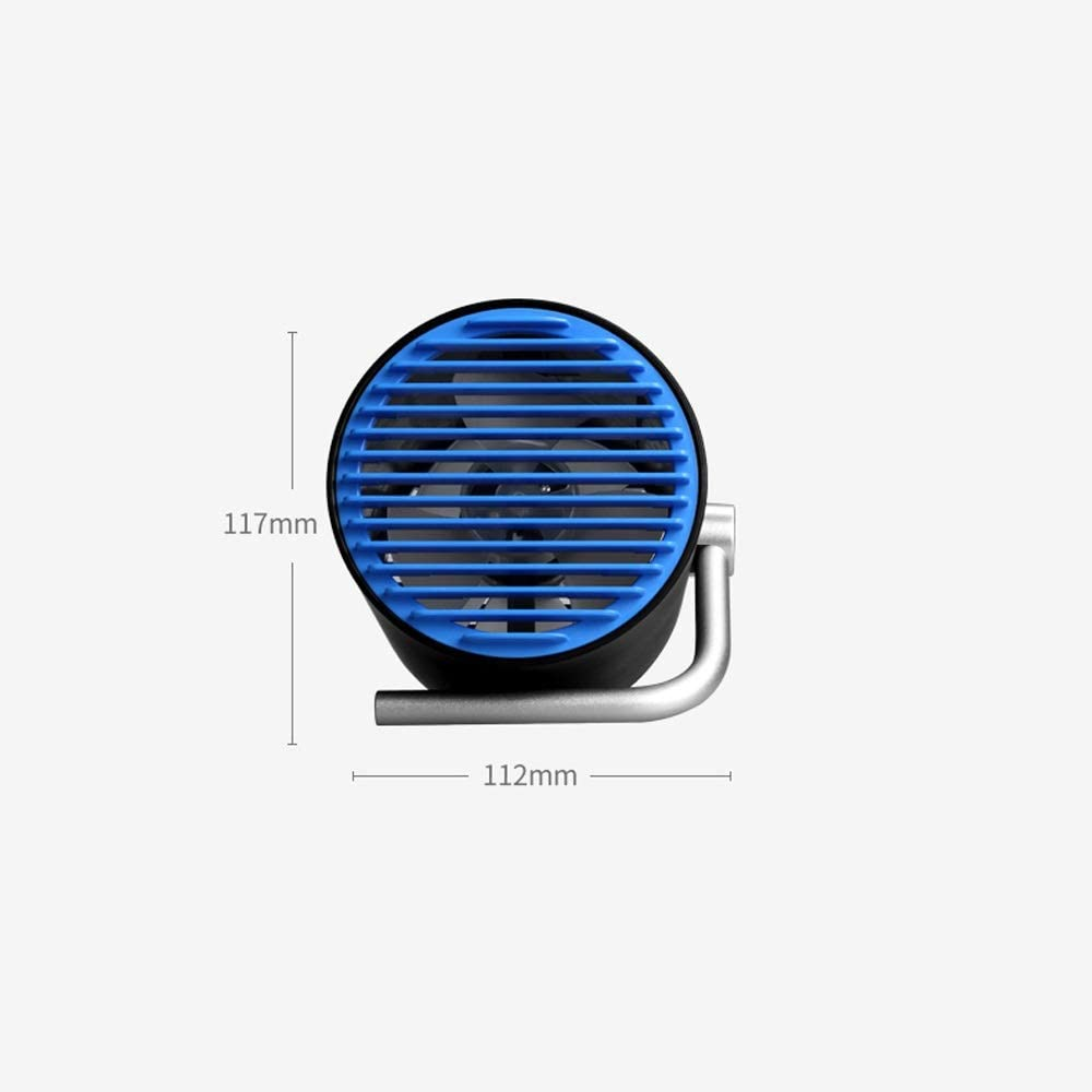Leafless Small Fan Mini Ultra Quiet Office Desk Desktop USB Electric Fan Small Portable Large Wind Color : White, Size : A