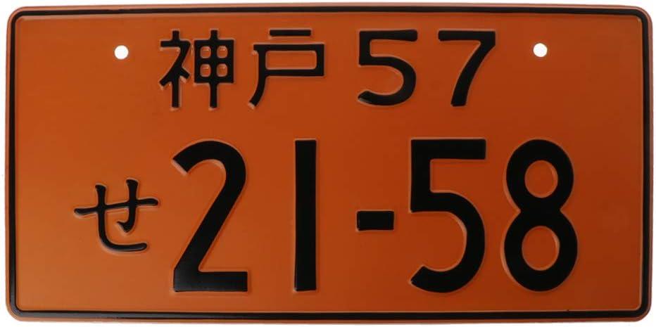 plaque dimmatriculation de voiture de course plaque dimmatriculation japonaise en aluminium personnalisation /électrique plusieurs couleurs Num/éros de voiture universels r/étro