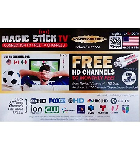 Amazon.com: Magic Stick TV MAX HD - Antenna TV Digital HD for Indoor/Outdoor | VHF UHF Digital Television | Signals up to 80 Miles Range | Support 720p, ...