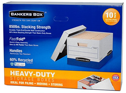 Bankers Box Heavy-Duty Storage Boxes Letter/Legal Size