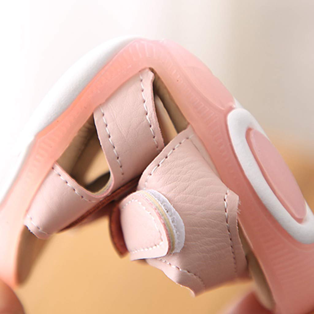 Kids Baby Girls Summer Bow Sandals Open Toe Lighted Soft-Soled Princess Baby Shoes,Asian Size