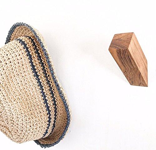 (TEAK WALLNUTS® | Modern Wall Hooks | Solid Teak)
