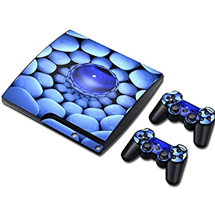 Zhhlaixing Vinyl Decal Protection Cover pour PS3 PlayStation 3 Slim+2 Controllers