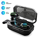 Wireless Earbuds Bluetooth V5.0 HiFi Stereo Sound Headphones, iPX7 Waterproof Auto Pairing Sport Noise Cancelling...