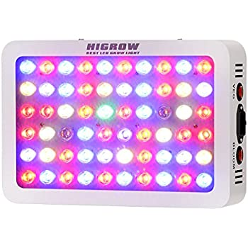 HIGROW Optical Lens-Series 300W Full Spectrum LED Grow Light for Indoor Plants Veg and  sc 1 st  Amazon.com & Amazon.com : BLOOMSPECT 300W LED Grow Light for Indoor Greenhouse ... azcodes.com