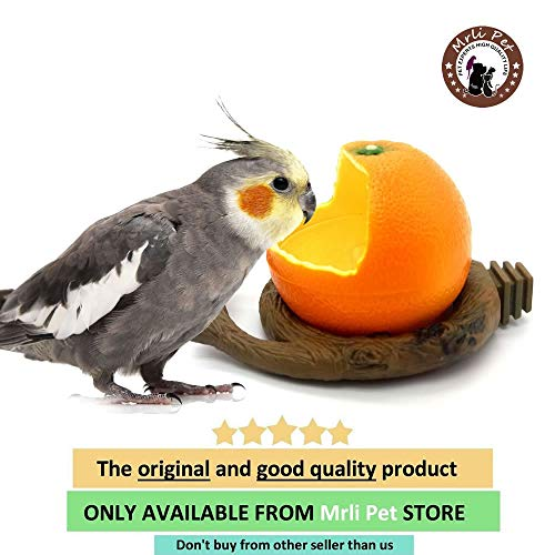 Mrli Pet Birds Feeder Bowl,Bird Food Feeding Bowl Feed Cup for Small Parrots Cockatiels Conure Hamster Small Animal…