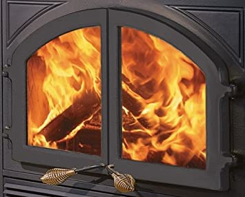 Amazon.com: Cast-Iron Double Fireplace Doors from the Bordeaux ...