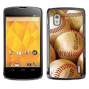 - MLB Baseball - - Monedero pared Design Premium cuero del tir¨®n magn¨¦tico delgado del caso de la cubierta pata de ca FOR LG Goole Nexus 4 E960 Funny House