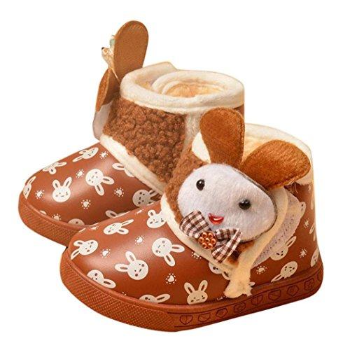 Koly Botas de nieve cálida impermeable y antideslizante para niños (23, marrón) Marrón