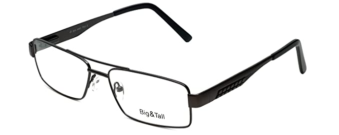 b5827069bb3 Amazon.com  Big and Tall 2 Designer Eyeglasses in Gun-Black +0.50 ...