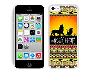Dacheng Funny Hakuna Matata on Sunset Lion King iPhone 5C Case White Cover case