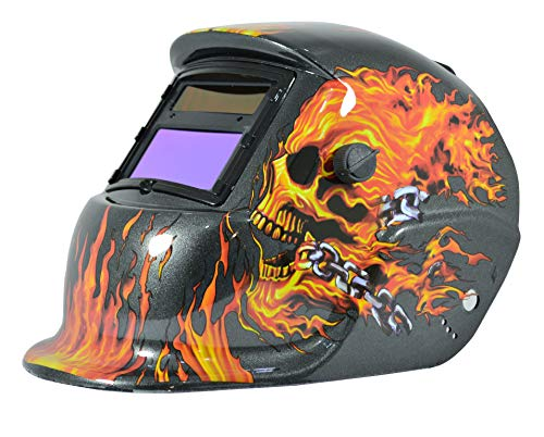 Adir 6711 Careta Electronica para Soldar Flaming Skull