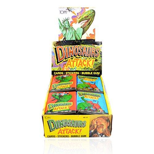 1988 Topps Dinosaurs Attack Box 48 Packs