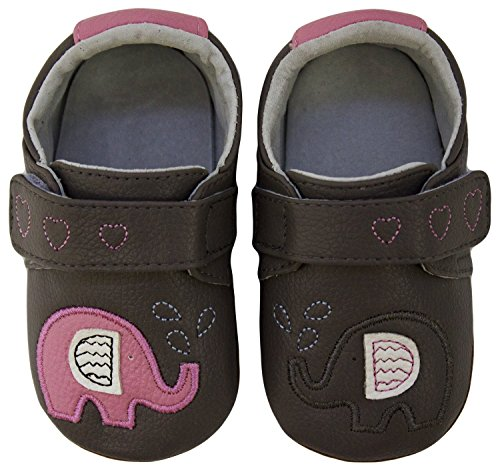 Rose & Chocolat Chaussures Bébé Elephant Kiss Gris