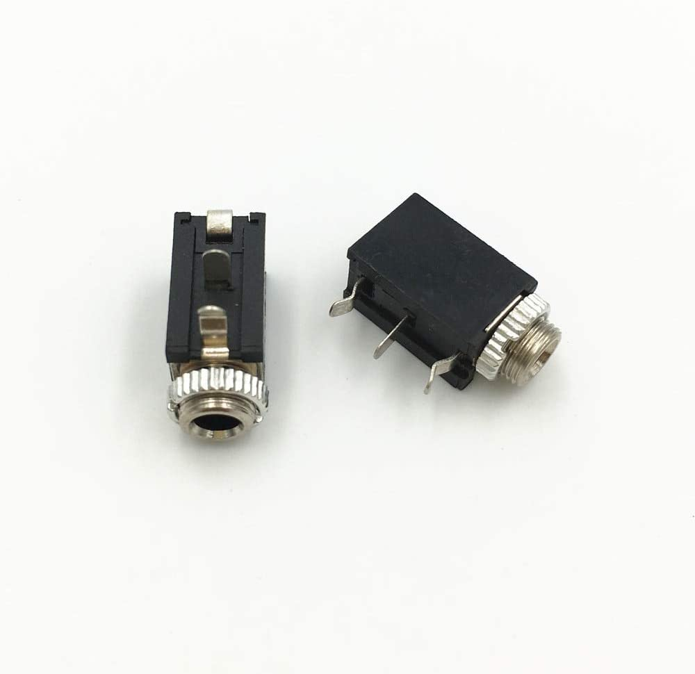 Mercury/_Group 10Pcs 3.5mm Mono Jack Socket Chassis with Nut PCB Panel Mount Chassis Adapter 2 Pin Connector Audio Plugs