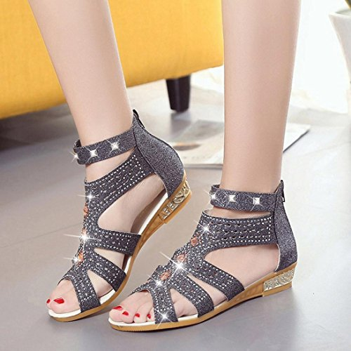 Beige Mouth 7 HOT Fashion Summer AIMTOPPY Shoes Roma Black Women Hollow Ladies Sandals Wedge Sale US Fish Spring HgnFaZ