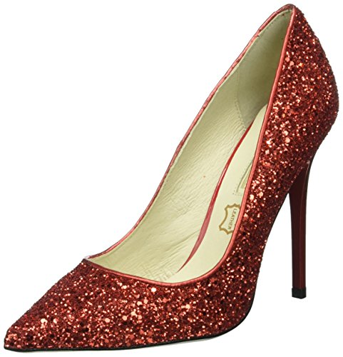 Buffalo Damen 11335-269 Glitter Pumps Rot (Red)