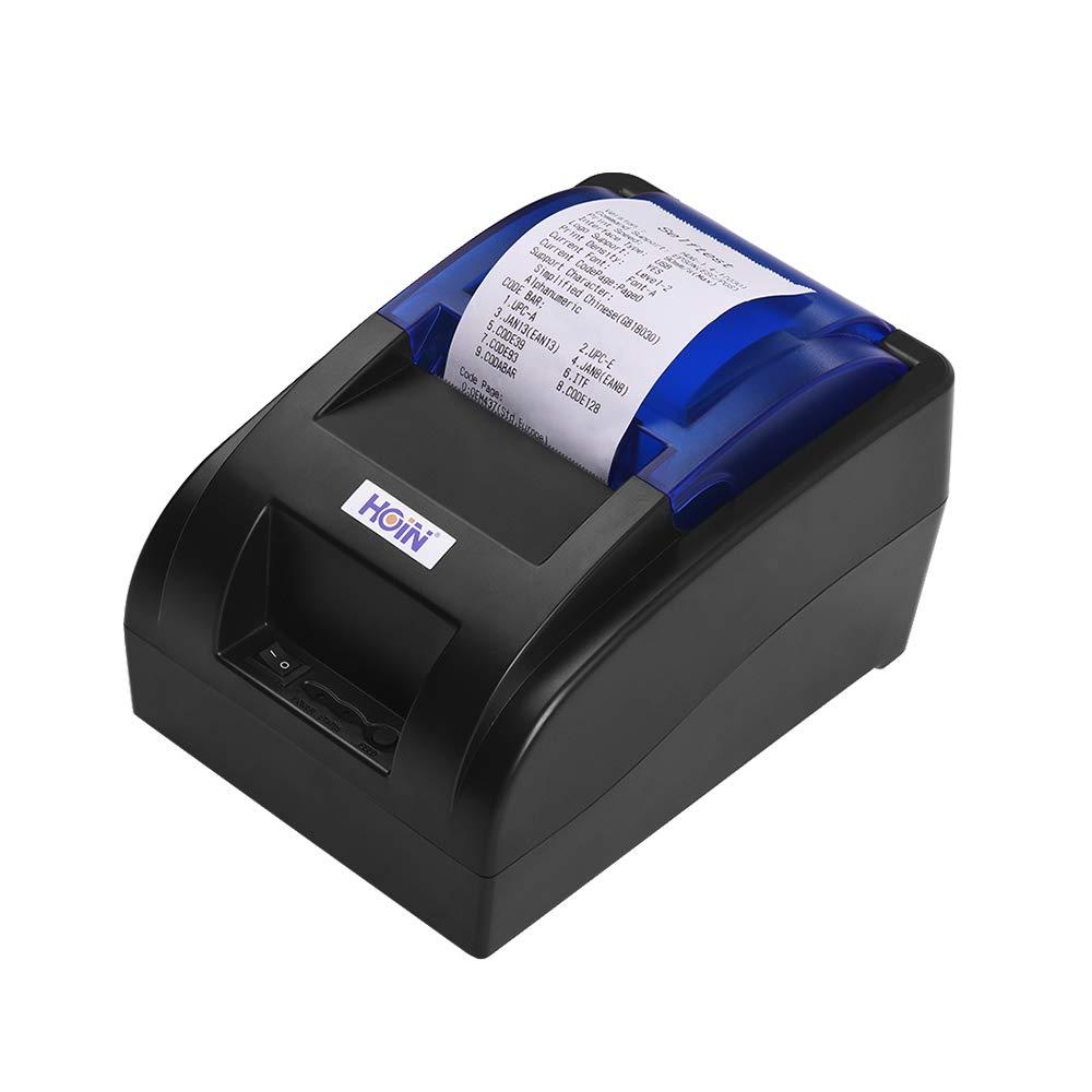 Aibecy HOIN 58mm-Thermo-Bondrucker mit BT und USB-Schnittstelle Hochgeschwindigkeits-Bill Ticket Klarer Druck mit ESC POS-Befehlen für Windows    Linux Android iOS