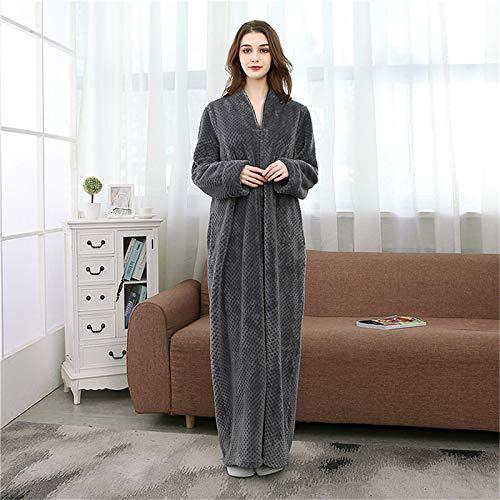 Pigiama Solid Colored Flanella Unisex Bianco Robe X Vestaglia Per Pile Grey Flanella Lunghi Moonvvin large Spessi Caldo In Uomo Lusso 0cwYIqIR