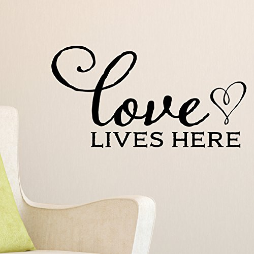 Cheap  Love Lives Here Vinyl Wall Decal by Wild Eyes Signs, Family Picture..