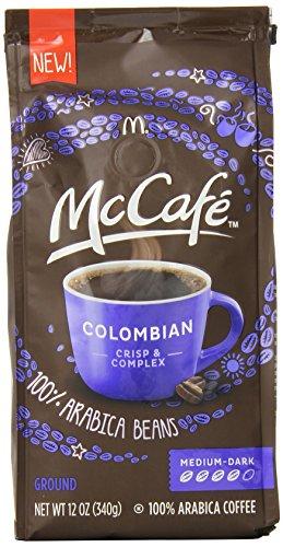 McCafe Coffee Colombian Ground Coffee, Medium-Dark Roast, 12 Ounce