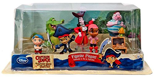 [Disney Store Disney Jr. Jake and the Never Land/Neverland Pirates 7 Piece Action Figure Figurine Gift Play Set] (Jake Disney)