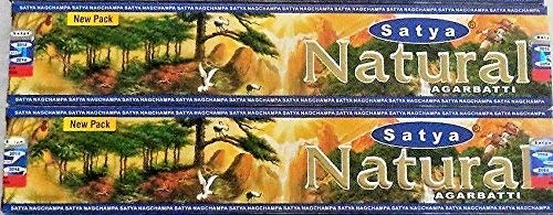 Satya Incense Sticks Natural 2 Packs of 15 Grams