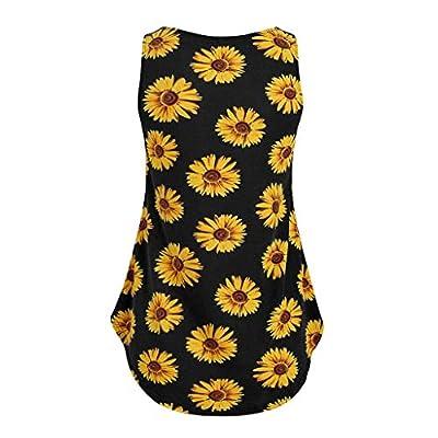 Winsummer Women's Sunflower Tank Tops Summer Sleeveless Vest Cute Funny Graphic Tees T Shirt: Clothing