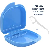Ventilated Retainer Case - Mouthguard Box - Orthodontic Retainer Case - Slim Orthodontic Dental Case - Dentures Case