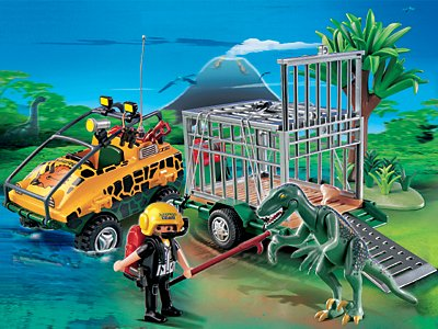 PLAYMOBIL® 4175 - Amphibienfahrzeug mit Deinonychus B000INDRFO Spielfiguren-Spielesets Haltbar | Für Ihre Wahl