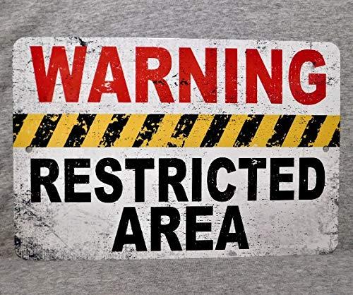 Se/ñal de Metal de 565 pir con Advertencia de Zona restringida Militar 51 Gobierno Mantener Fuera a los empleados s/ólo Peligro Seguridad Vida alien/ígena US Militaria UFO