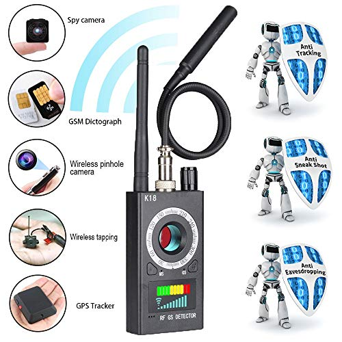 Innoo Tech Anti Spy Detector & Camera Finder RF Signal Detector GPS Bug Detector Hidden Camera Detector for GSM Tracking Device GPS Radar Radio Frequency Detector from Innoo Tech