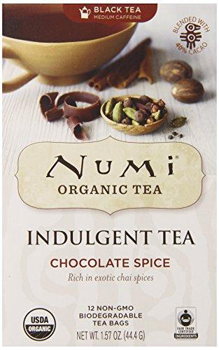 Numi Organic Tea Indulgent, Chocolate Spice, 12 Count (Pack of 6)