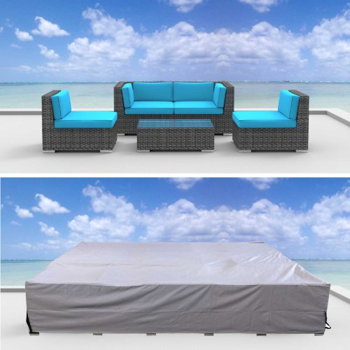 Urban Furnishing Premium Outdoor Patio Furniture Cover (6.8' x 6.8' x 2.3') (Belize Outdoor Furniture)