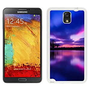 New Beautiful Custom Designed Cover Case For Samsung Galaxy Note 3 N900A N900V N900P N900T With Sunset Lake(2) Phone Case