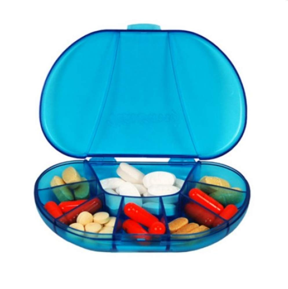 Multi-day Vitacarry 8 Compartment X Pill Box 3.0d Holds to up to 60 Pills Actual Size: 4.5w X 3.0d X .93h (Blue) by VitaCarry B007SNN0WM, ウサシ:40d42fe5 --- ijpba.info