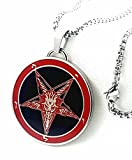 Church of Satan Sigil of Baphomet Stainless Steel 316L Black/Red 1.5''