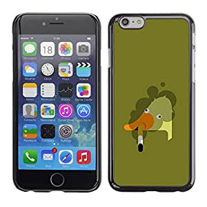 Exotic-Star ( Goose Smoking Art Bad Painting ) Fundas Cover Cubre Hard Case Cover para Apple iPhone 6 Plus(5.5 inches)
