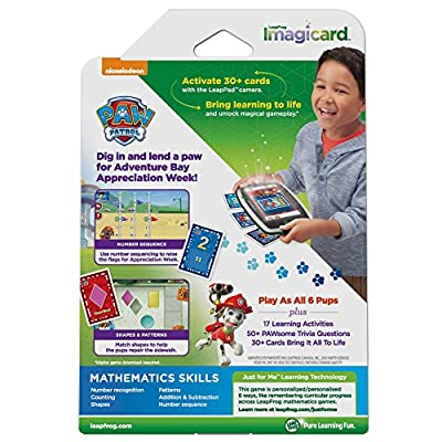 LeapFrog PAW Patrol Imagicard Learning Game (for LeapPads and LeapFrog Epic): Toys & Games
