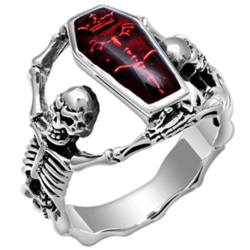 Fashion Ring,UMFun Women Skull Diamond Ring Jewelry Wedding Valentine Gift (8#)